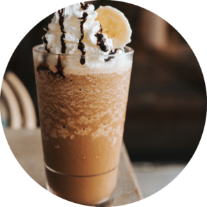 banana chocolate frappe